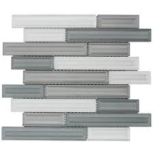 elida ceramica artistry linear mosaic glass wall tile common 12 in x 12