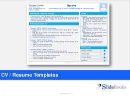 Resume Cv Templates In Editable Powerpoint