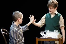 the boy in the striped pyjamas from page to stage marlowetheatre photo richard gibbons