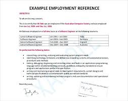 Employee Reference Samples Reference Letter Sample Employment Employee Reference Letter
