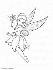 Fairy coloring pages for kids. Fairy Coloring Pages Free Printable Princess Pictures 76
