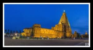 big view photography. Tanjore Big Temple - Night View Landscape And Architecture Color Photography N