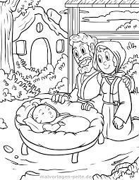 Kleurplaat Godsdienst Maria Josef Jesuskind Gratis Kleurpaginas