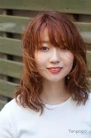 韓国人気パーマ韓国の女性 テクスチャーパーマヘアスタイル 韓国美容