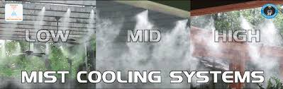 misting system outdoor cooling patio misting industrial misting