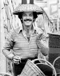 Portrait of Italian actor Orso Maria Guerrini smiling with a wicker... News  Photo - Getty Images