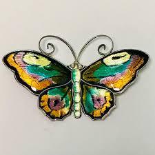 David Andersen Garden Design David Andersen Silver And Enamel Butterfly Brooch
