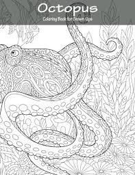 amazon octopus coloring book for grown ups 1 volume 1 9781530942695 nick snels books