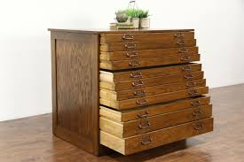 sold  oak  drawer  antique map chest drawing file or