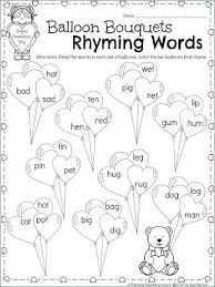 Rhyming Worksheets For First Grade St Words 1 – flauders.info