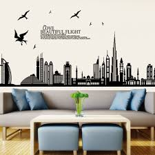 removable wall sticker city buildings art decals diy home decoration image image image