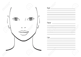 face chart makeup artist blank template vector ilration stock ilration 61056412