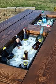 creative patio furniture. Diy Cooler Picnic Table Creative Living Outdoor Furniture Patio Ideas