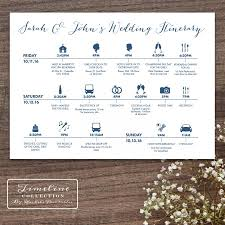 Wedding Schedule Printable Wedding Timeline Day Of Itinerary Schedule Card Three