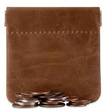 nabob leather classic leather squeeze coin purse change holder 3 5 x 3 5 com