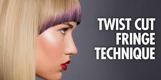 updated twist cut fringe technique