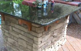 Making An Outdoor Kitchen How To Build A Cultured Stone Outdoor Bar Youtube
