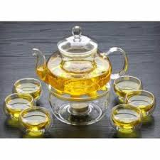 senarai harga hr borosilicate glass teapot set 600ml teapot warmer stand 6 glass