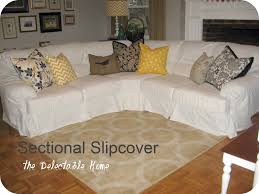 this chic slipcovered one of those puffy ugly sectional sofas