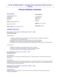 How To Write A Cv For College Application Professional Resume
