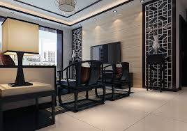 room with black furniture. chinese black furniture living room view with