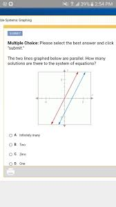 the two lines graphed below are parallel how many solutions solutions to systems of equations consistent vs inconsistent khan academy