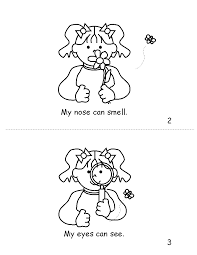 5 Senses Coloring Pages For Kids Printable Coloring Page For Kids