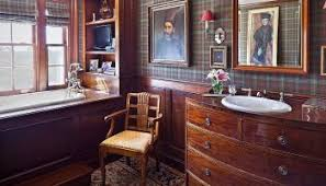 Comfy farmhouse bathroom decor ideas with rustic style Master Bathroom Pattern Overload 30 Ways To Invite Plaid Into Your Home Without Seeming Dated Better Homes And Gardens Rustic Farmhouse Design Interior Ideas Moweaqua Designs