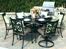 large round outdoor table outside covers circular size of patio garden and chairs