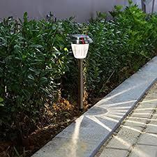 garden lights amazon. Voona Solar LED Outdoor Lights 8-Pack Stainless Steel Pathway Landscape For Path Garden Amazon
