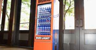 Bud Light Vending Machine Best This Cruel Bud Light Smart Fridge Unlocks Only When The Cleveland