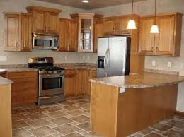 Small Picture Kitchen Flooring Ideas With Honey Oak Cabinets Unique Hardscape