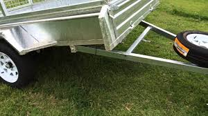 Tipping Box Trailer Designs 8x5 Single Axle Galvanised Tipping Box Trailer