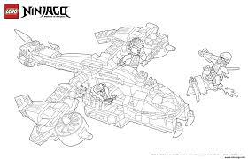 Coloriage Ninjago Lego Avion De Chasse Dessin