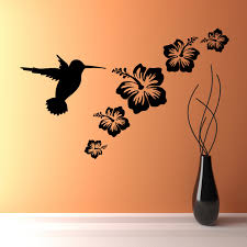 wall art birds and flowers