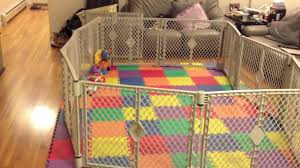 Baby Play Area Fatherhood Baby Gets A Playpen Youtube