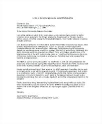 Letter Of Recommendation For High School Student Simple