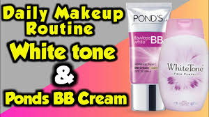 daily makeup routine with white tone face powder ponds bb cream daily makeup routine for beginners