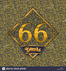 Sixty Design Golden Number Sixty Six Years 66 Years Celebration Design