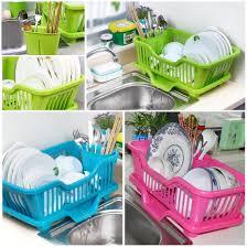 Drain Racks For Kitchen Sinks Kitchen Plastic Dish Drainer Rack Drying Tray Sink Holder Basket
