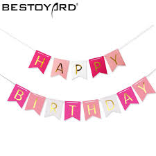 Us 2 8 48 Off Colorful Happy Birthday Banner Party Flags Letters Shaped Bell Garland Flags For Kids Children Party Supplies Decorations In Banners