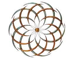 on flower metal wall art decor with modern pinwheel modern metal wall art