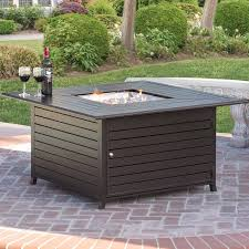 gas patio table. best choice products extruded aluminum gas outdoor fire pit table with cover patio i