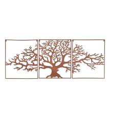 large outdoor wall decor new tree life metal wall art framed 3 pc set picture