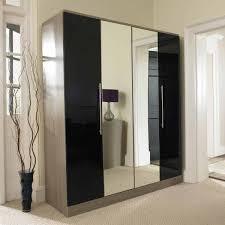 Luxury Bedroom With Black Wardrobe With Mirror Doors And Top Romantic  Luxury Master Bedroom