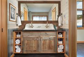 rustic bathroom double vanities.  Rustic Bathroom Ideas Rustic Double Sink Vanity Under Large Within Vanities Idea 15 To