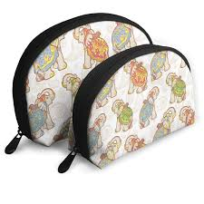 Makeup Case With Lights India Amazon Com Makeup Bag Indian Elephant Portable Half Moon