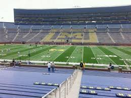 michigan stadium section 22 home of