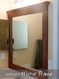 wood mirror frame ideas. Bathroom Good Mirror Ideas With Wood Frame