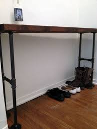 black iron furniture. Picture Of Easy Modern Black Iron Pipe Bench / Entryway Table Furniture E
